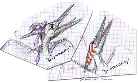 Navigating maternity leaves a freelance illustrator, featuring my two little pterodactyls.