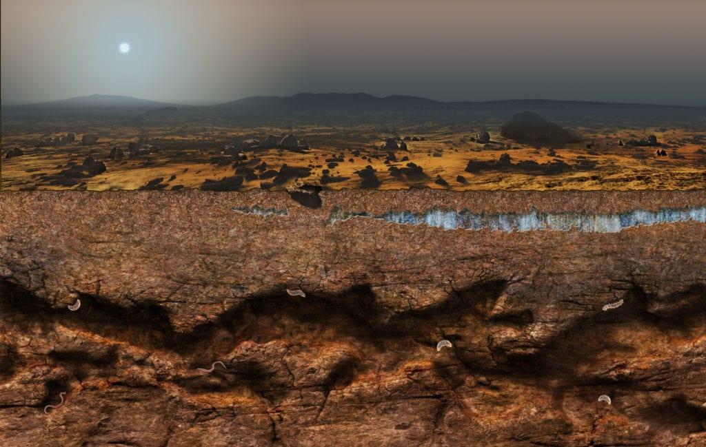 Mars magazine art by Nicolle R. Fuller