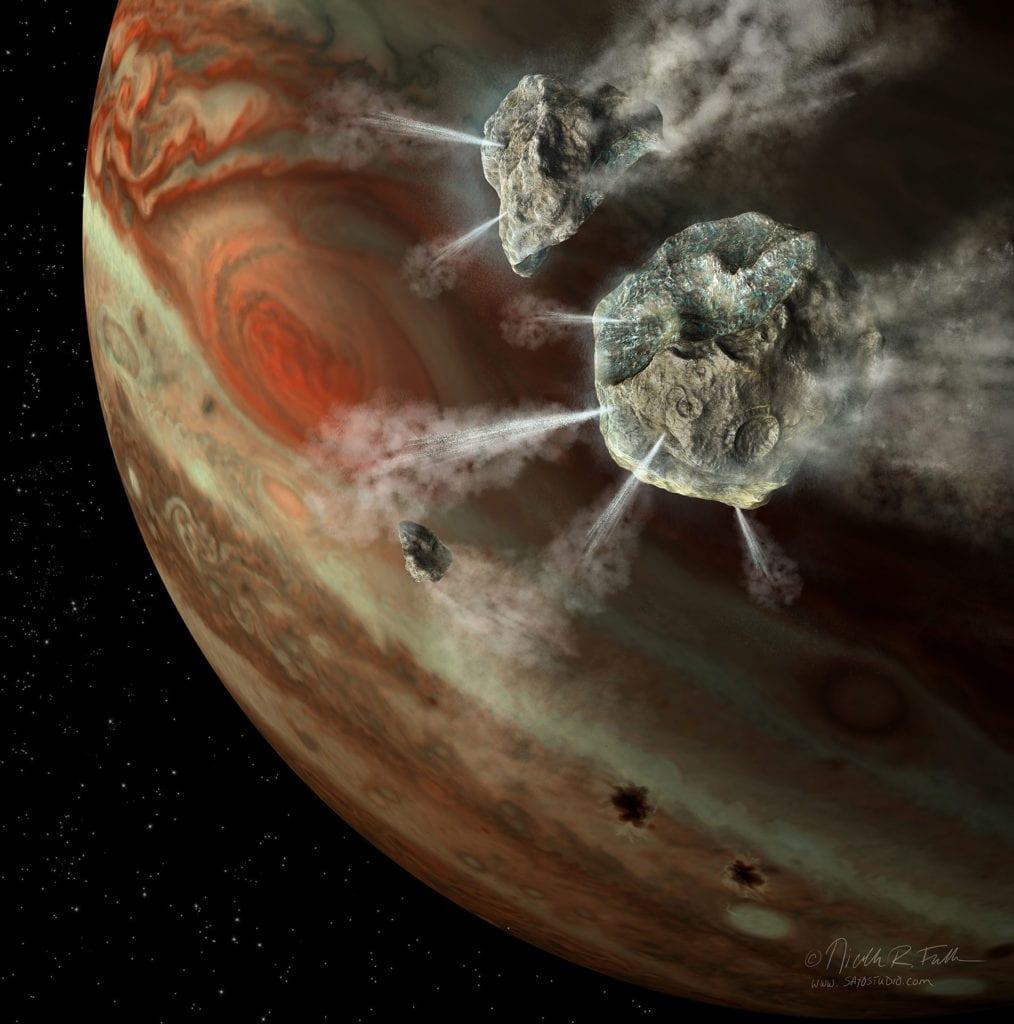 Comet Shoemaker-Levy 9 Approaching Jupiter