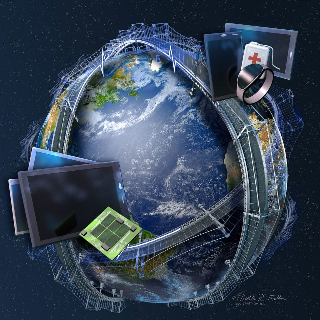 Integrated Global Computing Technology, New technologicial advances improving devices like phones, tablets, and smart devices helps connect us to the rest of the world—building bridges to other cultures, between families and buisnesses.