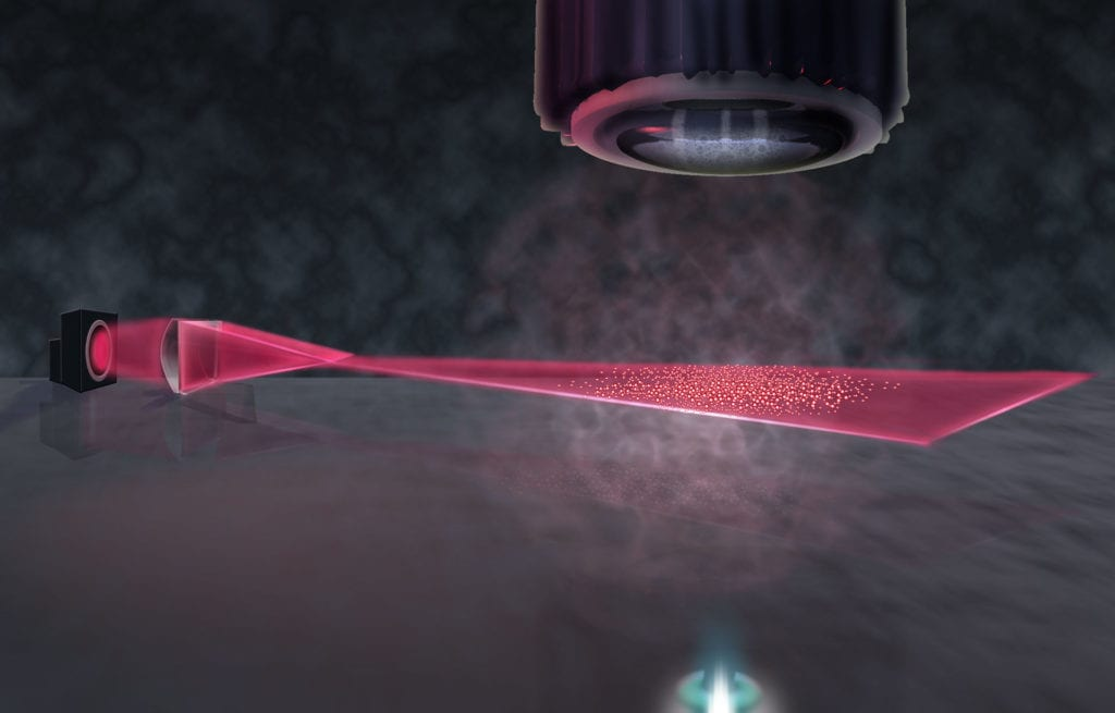 Scientists trapped and cooled sodium ions in a thin film to study strange superfluid dynamics.