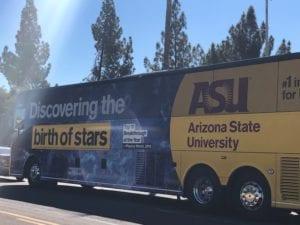 stars illustration on bus