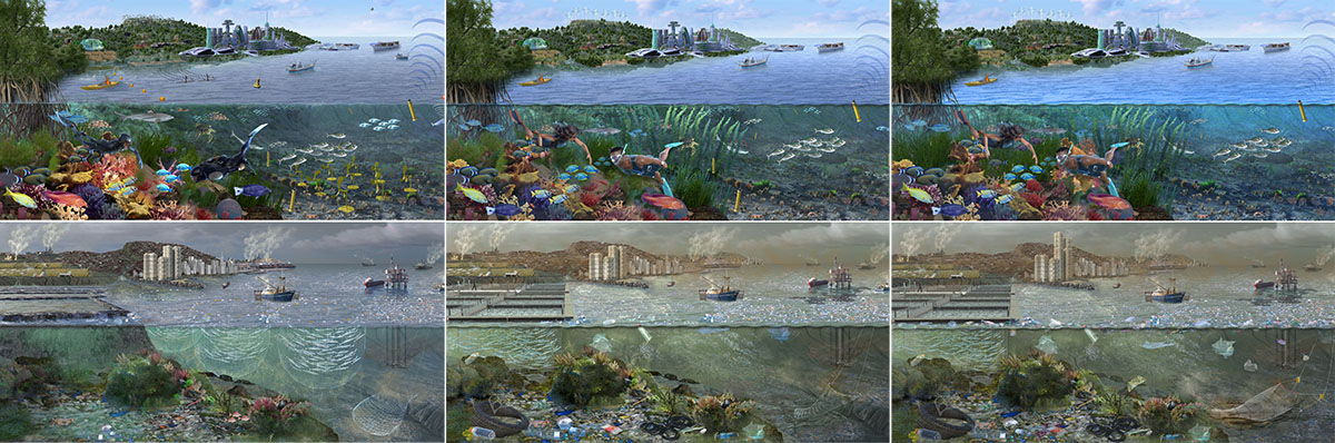 Science Ecology Illustration Process and edits by Nicolle R. Fuller