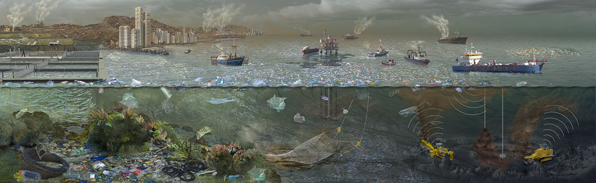 Polluted Oceans Future by Nicolle R. Fuller, SayoStudio