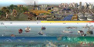 Land vs Sea Extinctions by Nicolle R. Fuller, SayoStudio