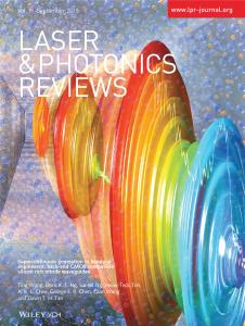 Laser & Photonics Reviews science journal cover art, waveform illustration by Nicolle Fuller, SayoStudio
